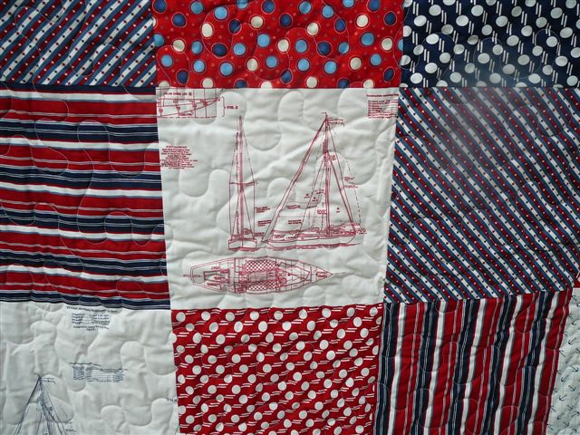 Longarm Quilting Photo Gallery : red and blue quilt - Adamdwight.com
